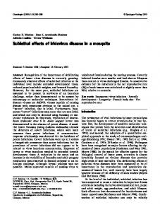 Sublethal effects of iridovirus disease in a mosquito - Trevor Williams ...