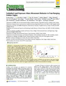 Sublethal Lead Exposure Alters Movement ... - ACS Publications