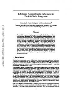 Sublinear Approximate Inference for Probabilistic Programs