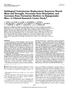 Sublingual Testosterone Replacement Improves Muscle ... - CiteSeerX