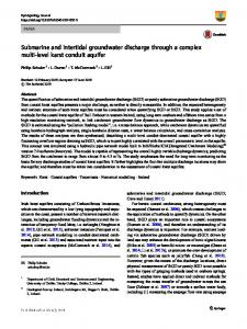 Submarine and intertidal groundwater discharge ... - Springer Link
