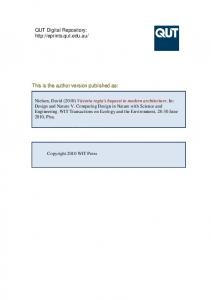 Submitted Version (PDF 1MB) - QUT ePrints