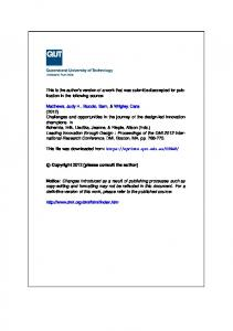 Submitted Version (PDF 313kB) - QUT ePrints