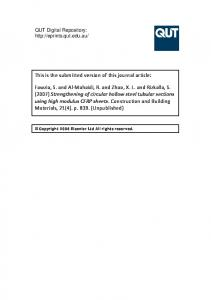 Submitted Version (PDF 786kB) - QUT ePrints