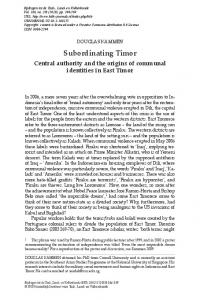 subordinating timor - Brill Online Books and Journals