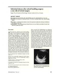 Subretinal abscess after scleral buckling surgery: a ... - Science Direct