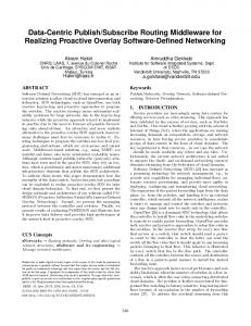 Subscribe Routing ... - ACM Digital Library
