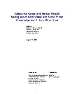 Substance Abuse and Mental Health Among Older Adults
