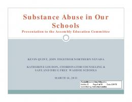 Substance Abuse in Our Schools
