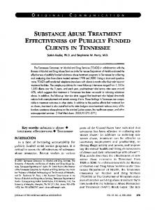 substance abuse treatment effectiveness of publicly ...
