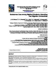 Substance Use among Medical Students Attending ...