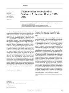 Substance Use among Medical Students