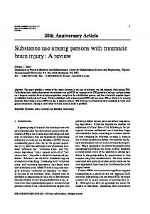 Substance use among persons with traumatic brain injury - IOS Press