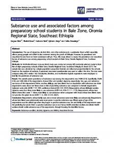 Substance use and associated factors among preparatory school ...