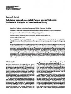 Substance Use and Associated Factors among University Students in ...