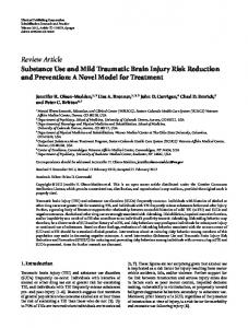 Substance Use and Mild Traumatic Brain Injury Risk Reduction and ...