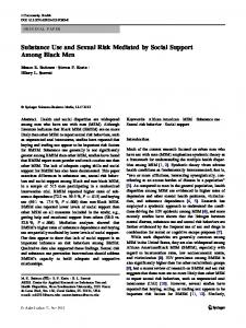 Substance Use and Sexual Risk Mediated by Social Support Among ...