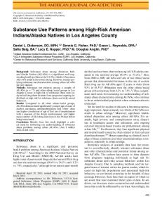 Substance Use Patterns among HighRisk American ...