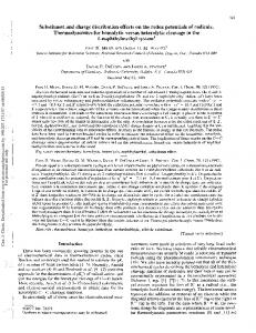 Substituent and charge distribution effects on the