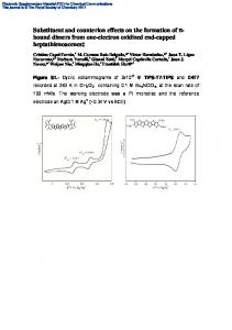 Substituent and counterion effects on the formation of