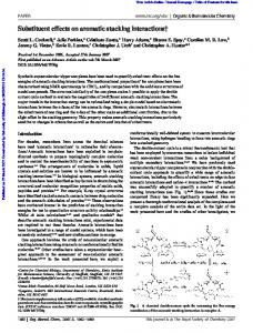 Substituent effects on aromatic stacking interactions