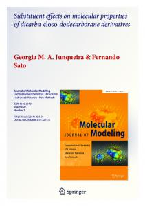 Substituent effects on molecular properties of dicarba