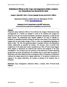 Substituent effects on the Cope rearrangement neither centaurs nor ...