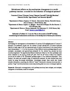 Substituent effects on the mechanism changeover in a multi - Arkivoc
