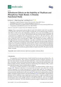 Substituent Effects on the Stability of Thallium and