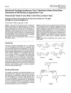 Substituted Pyridopyrimidinones. Part 3. Synthesis of Some ... - SciELO