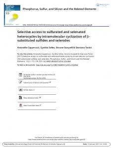 substituted sulfides and selenides - FloRe - UniFI