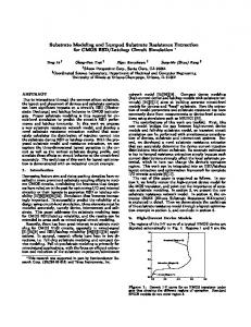 Substrate Modeling and Lumped Substrate Resistance ... - CiteSeerX