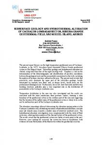 subsurface geology and hydrothermal alteration of ... - Orkustofnun