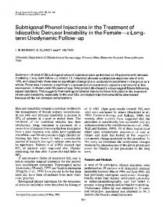 Subtrigonal Phenol Injections in the Treatment of