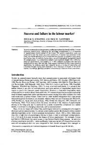 Success and failure in the labour market1
