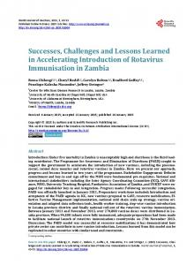 Successes, Challenges and Lessons Learned in Accelerating ...