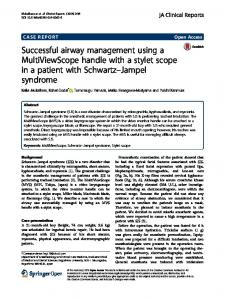 Successful airway management using a ... - Springer Link