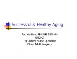 Successful & Healthy Aging