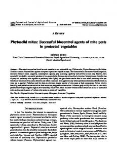 Successful biocontrol agents of mite pests in ...