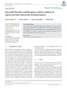 Successful fluoroless radiofrequency catheter ... - Wiley Online Library