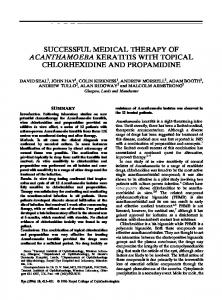successful medical therapy of acanthamoeba keratitis with ... - Nature