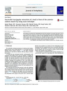 Successful transjugular extraction of a lead in ... - Wiley Online Library