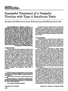 Successful Treatment of a Postpolio Tinnitus ... - Wiley Online Library