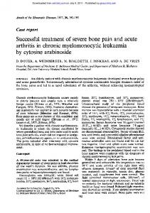 Successful treatment of severe bone pain and acute ...
