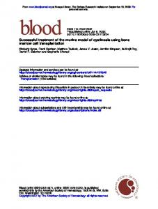 Successful treatment of the murine model of cystinosis using bone ...