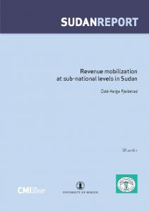 SUDANREPORT - Chr. Michelsen Institute