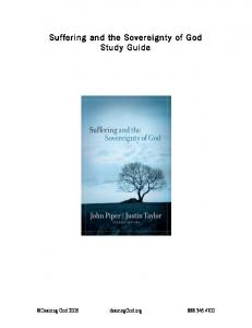 Suffering and the Sovereignty of God Study Guide