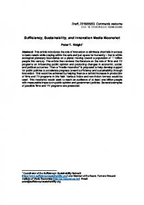 Sufficiency, Sustainability, and Innovation Media