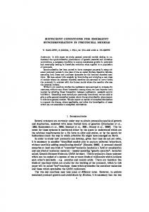 SUFFICIENT CONDITIONS FOR EMERGENT ... - CiteSeerX