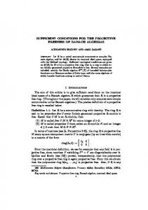 SUFFICIENT CONDITIONS FOR THE PROJECTIVE ... - CiteSeerX